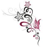Цветки, бабочка, флористическая Стоковые Изображения RF