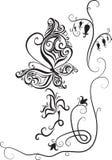цветки бабочки иллюстрация вектора