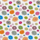 Цветки безшовная картина, предпосылка Стоковое Фото