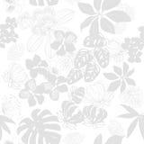 цветки безшовной картины тропические иллюстрация Стоковая Фотография