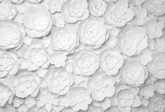 Цветки белой бумаги Стоковые Фото