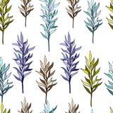 Цветки вектора орнаментируют плитку иллюстрация штока