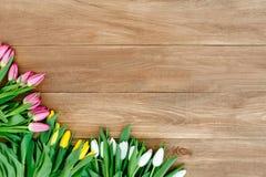 Цветки весны на доске Стоковое Фото
