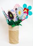 Цветки войлока на белой предпосылке Стоковое Изображение RF