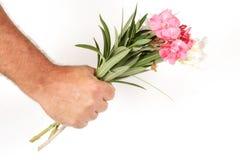цветки вручают романское просто Стоковые Изображения