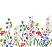 Цветки вышивки Стоковая Фотография RF