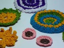 Цветки вязания крючком Стоковые Фото