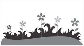 Цветки в траве Стоковая Фотография