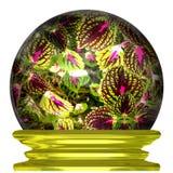 Цветки в хрустальном шаре иллюстрация вектора