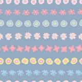 Цветки в doodle предпосылки вектора строк безшовном иллюстрация штока