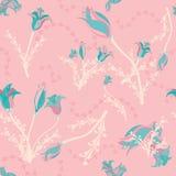 Цветки в teal на пинке бесплатная иллюстрация