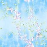Цветки - декоративный состав акварель картина безшовная U Стоковое Изображение RF