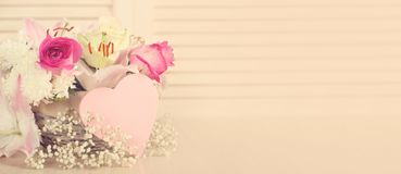Цветки дня валентинок Стоковая Фотография RF