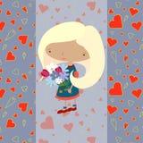 Цветки девушки Стоковые Фотографии RF