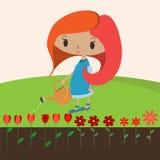 Цветки 2 девушки Стоковое фото RF