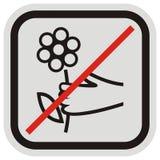Цветки запрета срывая, бренд для охраны окружающей среды, eps иллюстрация вектора