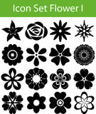 Цветки значка установленные i Стоковое Изображение RF
