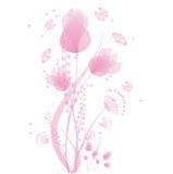 Цветки и бабочки Иллюстрация штока