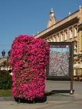 Цветки и город составляют карту в Novi унылом, Воеводине, Сербии Стоковая Фотография