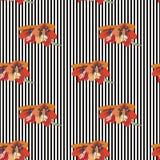 Цветки и линии Стоковое Изображение