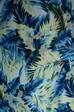 Цветки и листья ткани текстуры винтажные гаваиские Стоковые Изображения