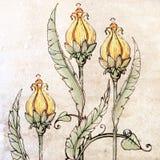Цветки и листья II Стоковая Фотография RF