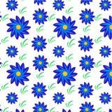 Цветки и картина травы Стоковое Фото