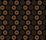 Цветки и круги Греции безшовные. Стоковая Фотография RF