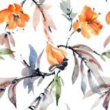 Цветки и листья Стоковые Фото