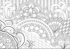 Цветки и мандалы Doodle Стоковые Фотографии RF
