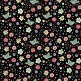 Цветки и птицы Стоковое Изображение