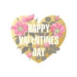 Цветки и сердце Стоковое фото RF