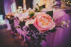 Цветки и украшения свадьбы Стоковые Фото