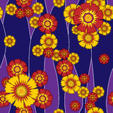 Цветки картины безшовные иллюстрация штока