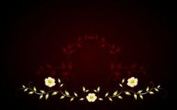 Цветки картины желтые на коричневом основании иллюстрация графика феиэрверков eps10 предпосылки черная Стоковая Фотография RF