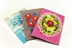 цветки карточек quilling Стоковые Изображения RF
