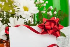 цветки карточки букета Стоковые Фотографии RF