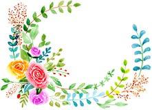 Цветки карточки розовые Стоковые Фото