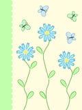 цветки карточки Стоковые Изображения