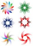 Цветки конструируют комплект иллюстрация штока