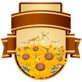 цветки конструкции обозначают желтый цвет Стоковое Фото