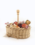 цветки корзины сухие Стоковое Фото