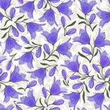 Цветки колокола - безшовная картина Стоковое Изображение RF