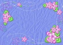 цветки красного вина карточки предпосылки голубые Стоковое Изображение