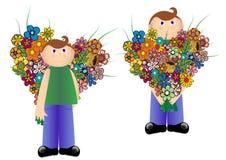 цветки мальчика Стоковое Фото