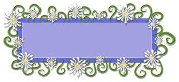 Цветки маргаритки логоса страницы сети стоковое фото rf
