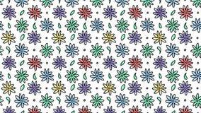 Цветки механизма прерывного действия, цветка анимации руки картина вычерченного безшовная иллюстрация вектора