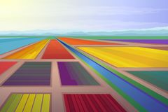 Цветки, много промышленный сезон Иллюстрация вектора