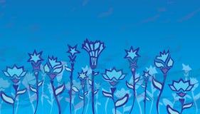 Цветки на поле Стоковая Фотография RF
