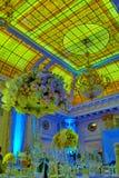Цветки на таблице в дне свадьбы Стоковые Изображения